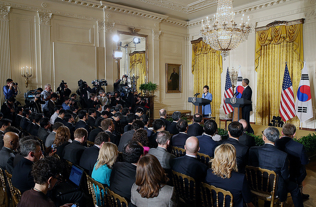 The White House press corps have long held unique access to the US administration.