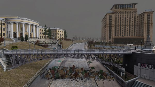 Scene from Aftermath VR: Euromaidan