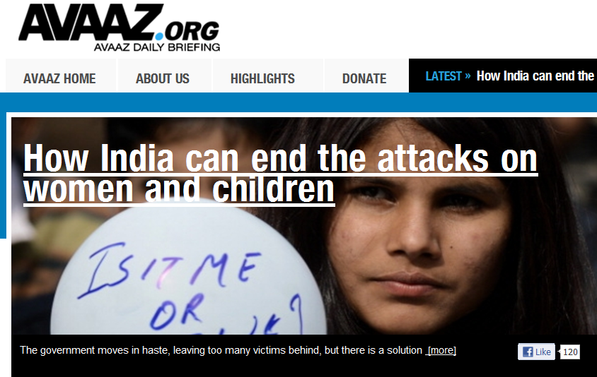 Avaaz print screen