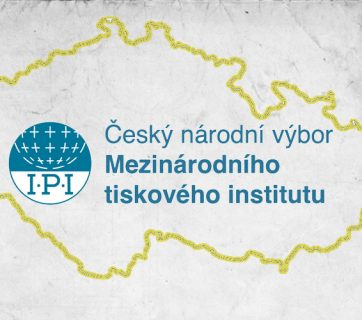 Map of Czech Republic with IPI logo