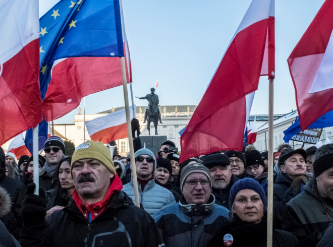 Anti-government protests in Warsaw last week / CC Flickr