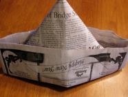 Capture newspaper hat