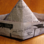 Capture newspaper hat