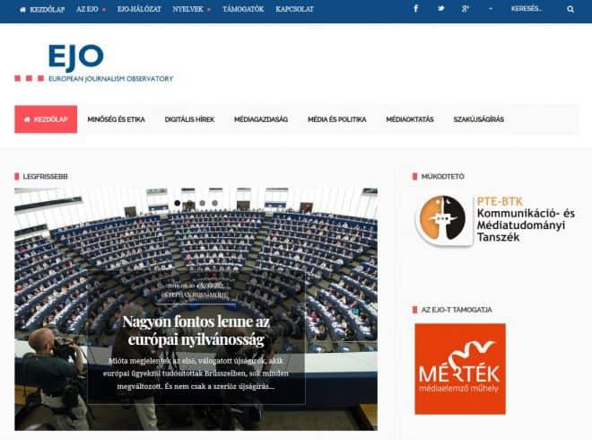 Screengrab of EJO Hungarian