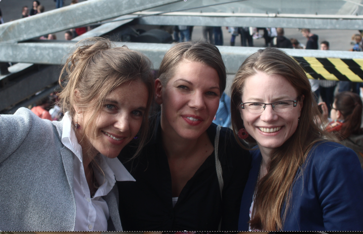 From left to right: Sandra Zistl, Tabea Grzeszyk and Tamara Anthony