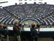 European Parliament debating chamber in 2015