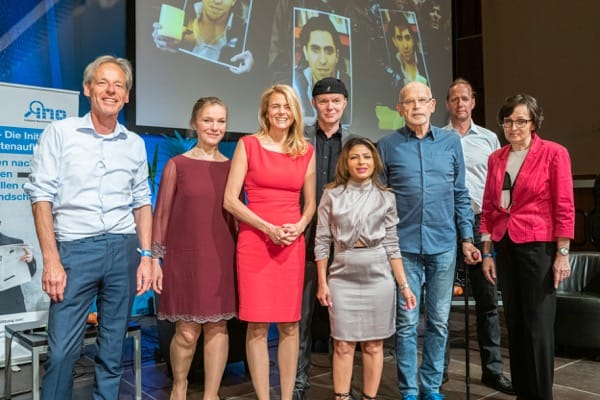 Participants in the award ceremony for the 2019 Günther Wallraff Prize