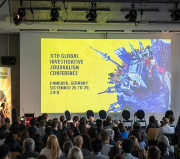 Session of Global Investigative Journalism Conference in Hamburg, September 2019
