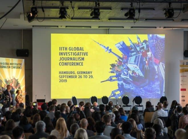 Session of Global Investigative Journalism Conference in Hamburg, September 2019