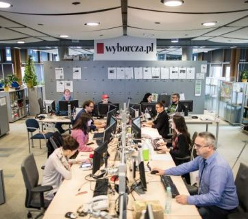 Newsroom of Polish daily Gazeta Wyborcza