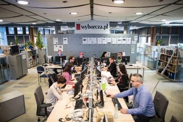 Newsroom of Polish daily Gazeta Wyborcza