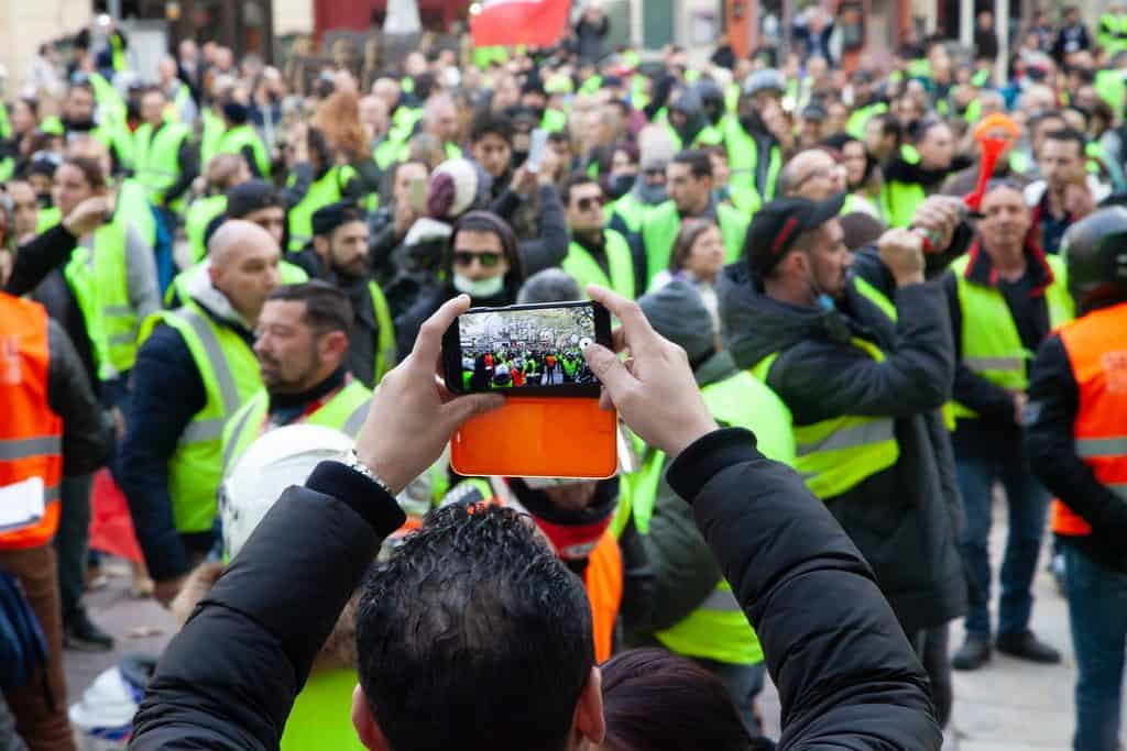 """Gilets jaunes"" protest in Avignon"