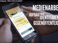Mobile phone screen showing website of Germany's Identitarian Movement
