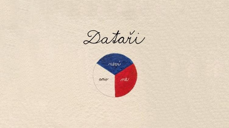 Logo of Czech radio podcast series devoted to Czech data specialists
