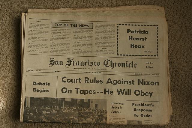 SF Chronicles court against nixon