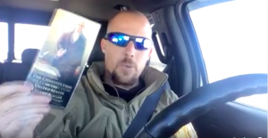 One of the Oregon occupiers with the US constitution