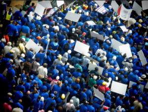 Free speech protest march, South Africa
