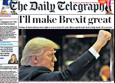 Daily Telegraph: time for 'realpolitick'