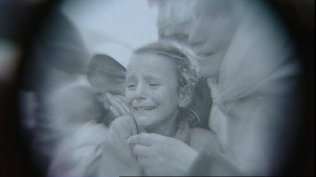 Image of a young girl in distress