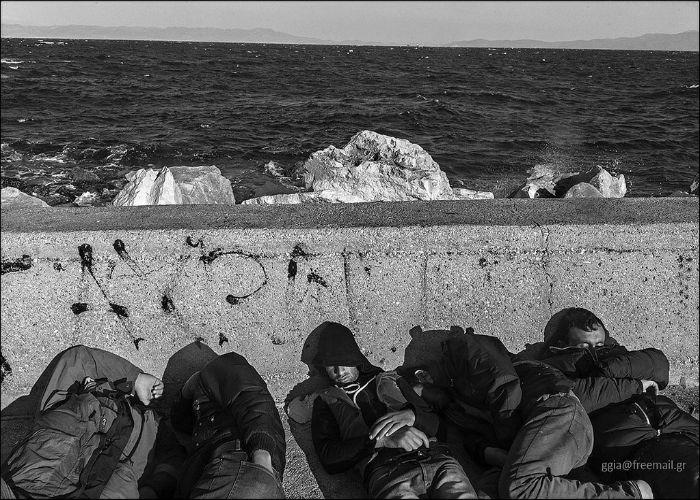 greek refugees sized