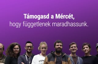 Mérce fundraising campaign poster