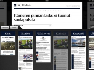Screenshot of the Helsingin Sanomat