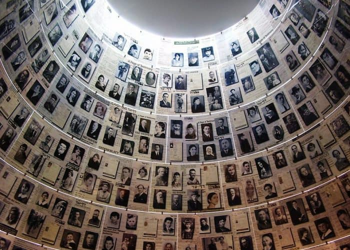 Hall of Names at Yad Vashem memorial to the victims of the Holocaust